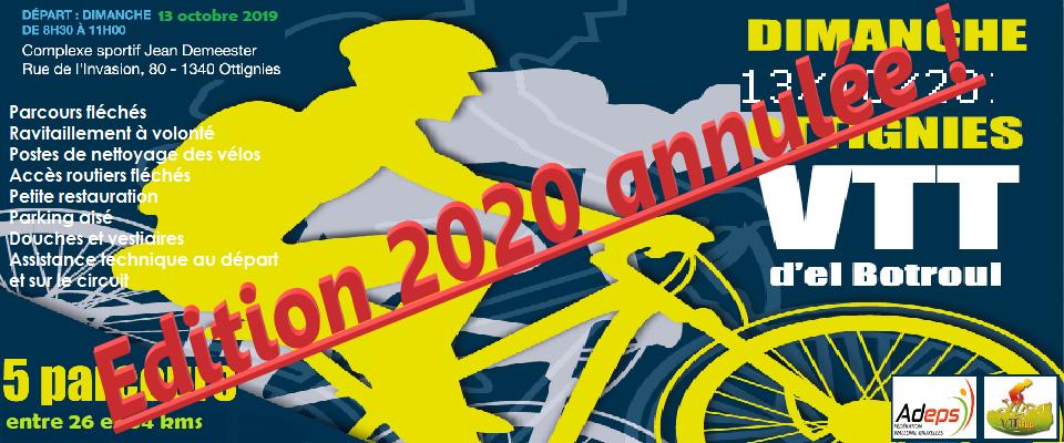 Pas d'organisation VTT et Route en 2020.